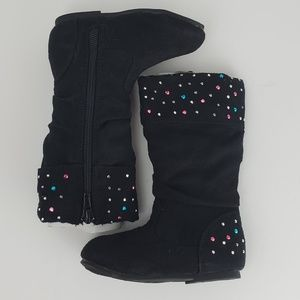 Other - Black Faux Suede Boots